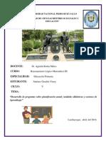 11) Desarrollo Del Cuestionario Sobre Planificación Anual, Unidades Didácticas y Sesiones de Aprendizaje.