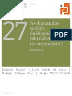Demandas Sociais Da Democracia e o Orçamento I