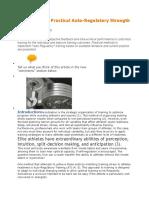 Practical Autoiregulatory Training