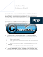 Web Site Terms and Conditions of Use Concursul.info