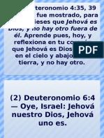 Textos Hablan Que DIOS UNO