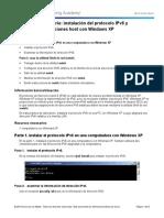0.0.0.2 Lab - Installing the IPv6 Protocol with Windows XP.docx