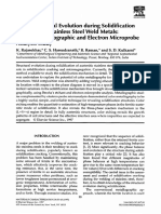 Microstructural Evolution During Solidification of Austenitic Stainless Steel Weld Metals a Color Metallograph