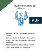 Evolución Del Sistema Educativo Mexicano. Estrada Leonardo