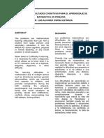 Ospina - PRINCIPALES DIFICULTADES COGNITIVAS PARA EL APRENDIZAJE DE MATEMÁTICA EN PRIMARIA.pdf