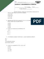 EVALUACION 2 DE MATEMATICAS 4°