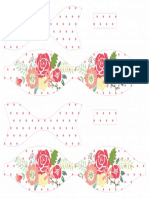 Printable Flower Polka Dot Paper Bow Red