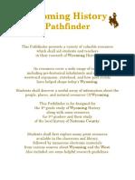 wyoming history pathfinder