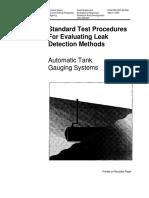 metodo EPA para detección de fugas en tanques de almacenamiento
