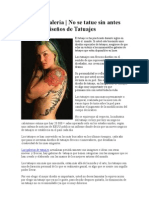 Tatuajes Galeria   No se tatue sin antes leer esto. Diseños de Tatuajes