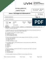 Examen a Primer Parcial Tec IV