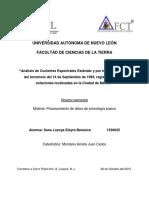 Análisis de Cocientes Espectrales Estándar y por el método de H/V del terremoto del 14 de Septiembre de 1995, registrado en tres estaciones localizadas en la Ciudad de México