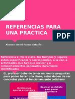 Referencias para una práctica