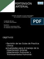 HIPERTENSION ARTERIAL, HIPERTENSION PULMONAR, TROMBOEMBOLIA PULMONAR