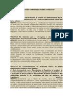 1º Bloco de QUESTÕES COMENTADAS de Direito Constitucional