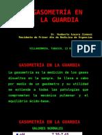 Gasometría en La Guardia