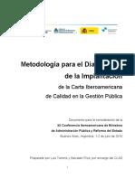 Metodologia Para La Implantacion de La Carta Iberoamerica Gestion Publica