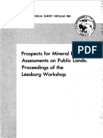 Prospects for Mineral Resource Assessments on Public Lands Proceedings of the Leesburg Workshop
