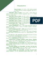 Bibliografii Publicate