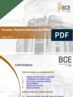 Tasa de Inflacion Mayo 2016 de Ecuador