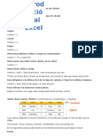 INtroduccion Del Excel