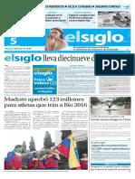 Edición Impresa El Siglo 05-07-2016