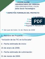 diapositivas presentacion proyecto inclusion de las tic en la escuela
