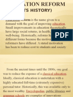 Education Reform (REPORT)
