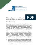 Annick Lemperiere -El Paradigma Colonial en La Historiografia Latinoamericanista