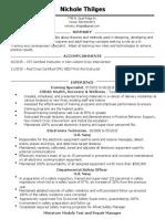 nichole thilges resume 2016
