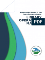Ambassador Manuel T. Yan Peace Resource Center Library Operations Manual