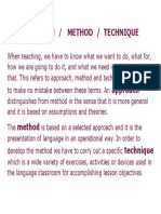 approach method and technique