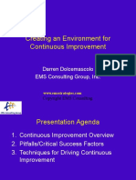 Continuous Improvement Overview