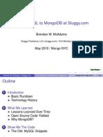 From MySQL to MongoDB at Sluggy.com
