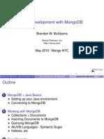 Java Development with MongoDB - Mongo NYC 2010