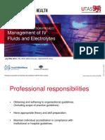 Management of IV Fluids and Electrolyte Balance Slides