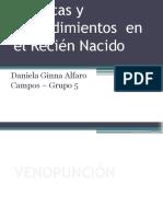 Técnicas y procedimientos  en el Recién Nacido.pptx