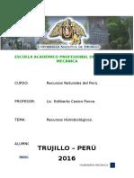Recursos Hidrobiológicos Del Perú