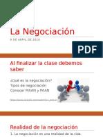 La Negociación Clase 1 y 2