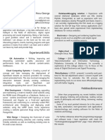 Curriculum Vitae - Web Developer