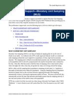 21-PS-Monetary Unit Sampling AS2 V12