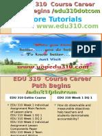 EDU 310 Course Career Path Begins Edu310dotcom