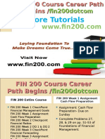 FIN 200 Course Career Path Begins Fin200dotcom