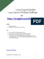 Insightsonindia - General Studies - Answer Writing Challenge.pdf
