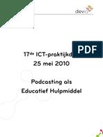 ICTDag - Podcasting Als Educatief Hulpmiddel
