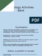 sociology activities bank