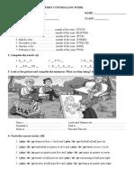 1. Kontrolni Zadatak- 5. Razred 2014-2015
