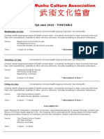 CHQA Visit 2016 Timetable