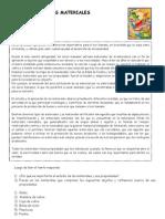 Ficha de Trabajo - Materiales