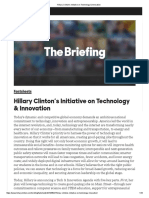 Hillary Clinton's Initiative on Technology & Innovation